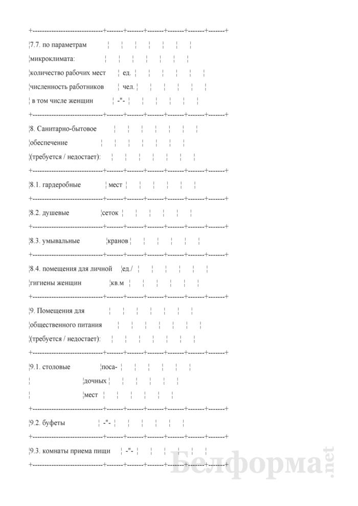 Типовой паспорт санитарно-технического состояния условий и охраны труда организации (структурного подразделения). Страница 4