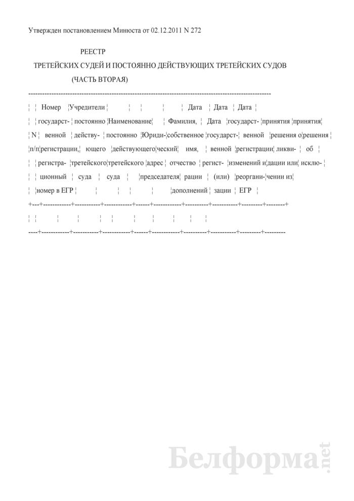 Реестр третейских судей и постоянно действующих третейских судов (часть вторая). Страница 1