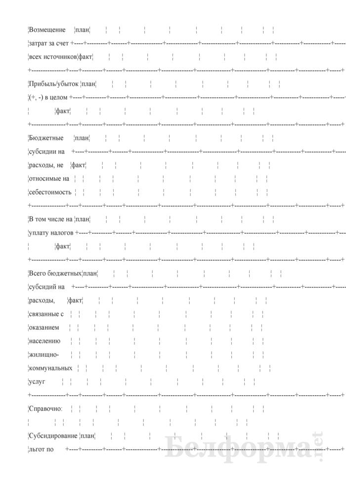 Финансовый отчет по оказываемым населению жилищно-коммунальным услугам (квартальная). Страница 4