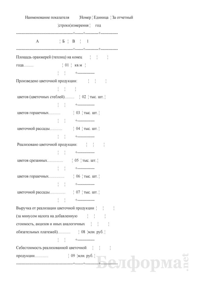Отчет о цветоводстве (годовая). Страница 2