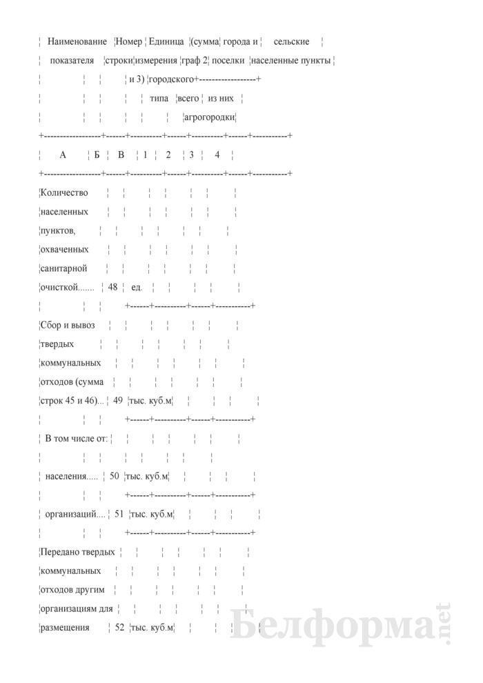 Отчет о санитарной очистке населенных пунктов (годовая). Страница 12