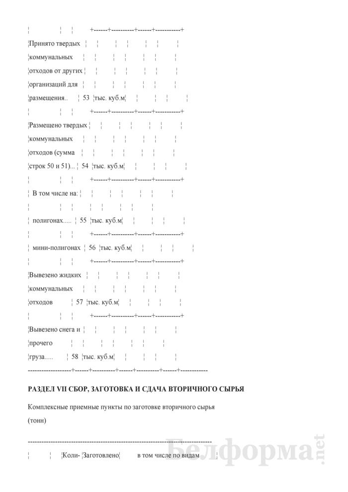Отчет о санитарной очистке населенных пунктов (годовая). Страница 13