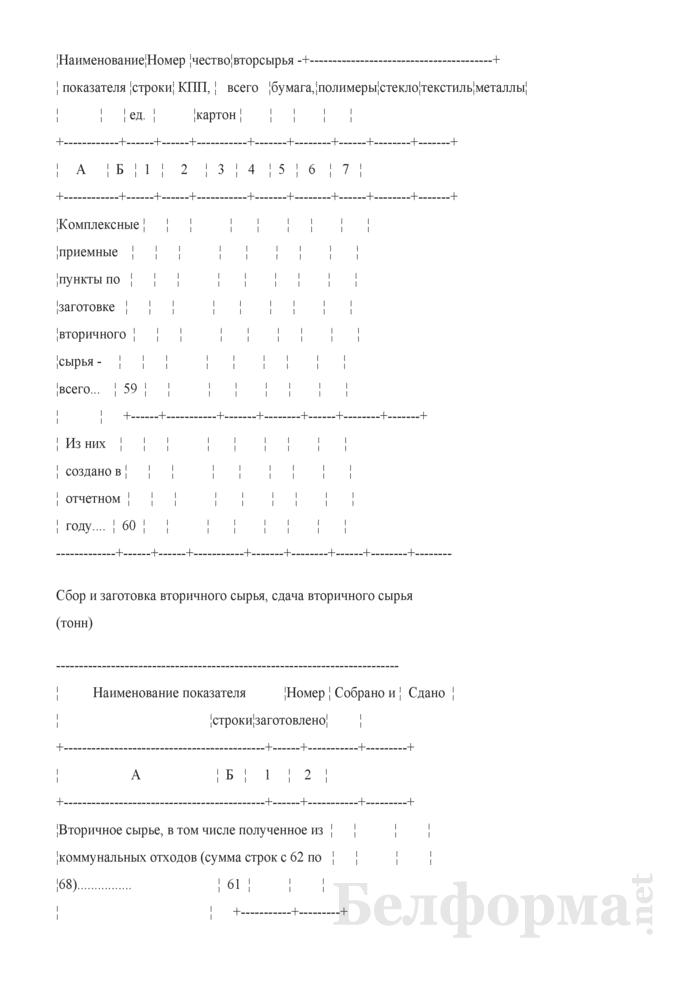 Отчет о санитарной очистке населенных пунктов (годовая). Страница 14