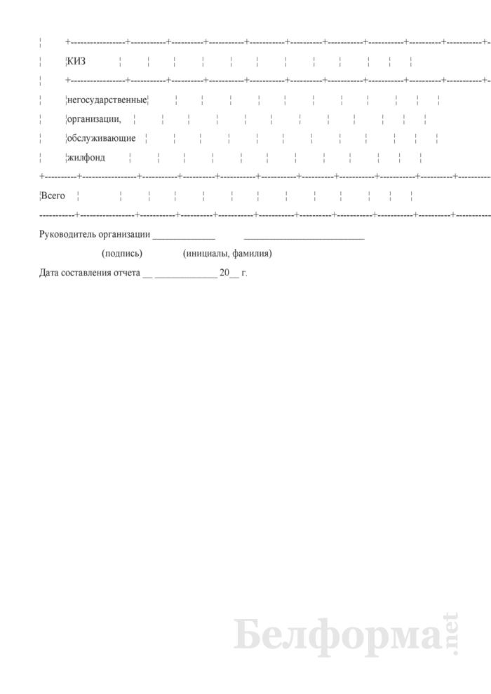 Сведения о жилищном фонде (годовая). Страница 5