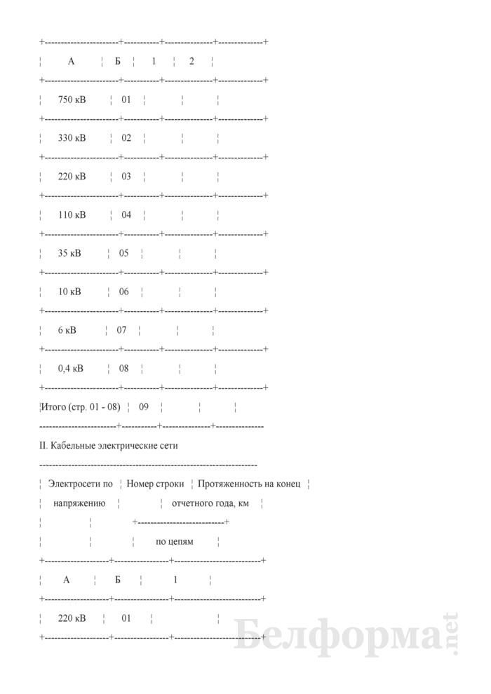 Отчет о протяженности электрических и тепловых сетей. Форма № 5-Э (годовая). Страница 2