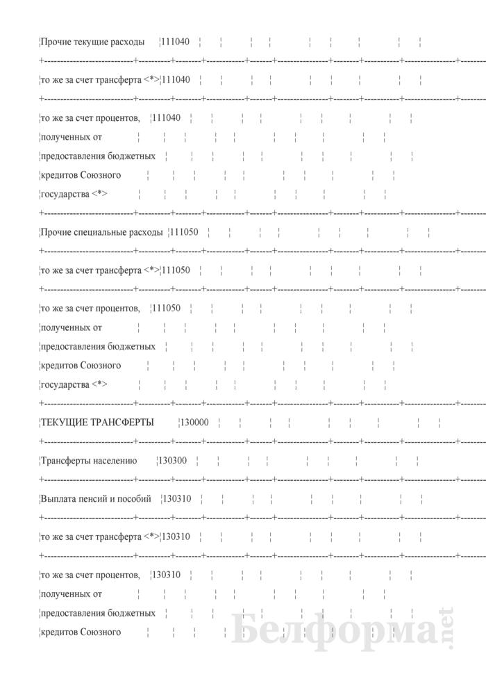 Отчет об исполнении сметы расходов по средствам бюджета Союзного государства (Форма № 2-союз). Страница 12