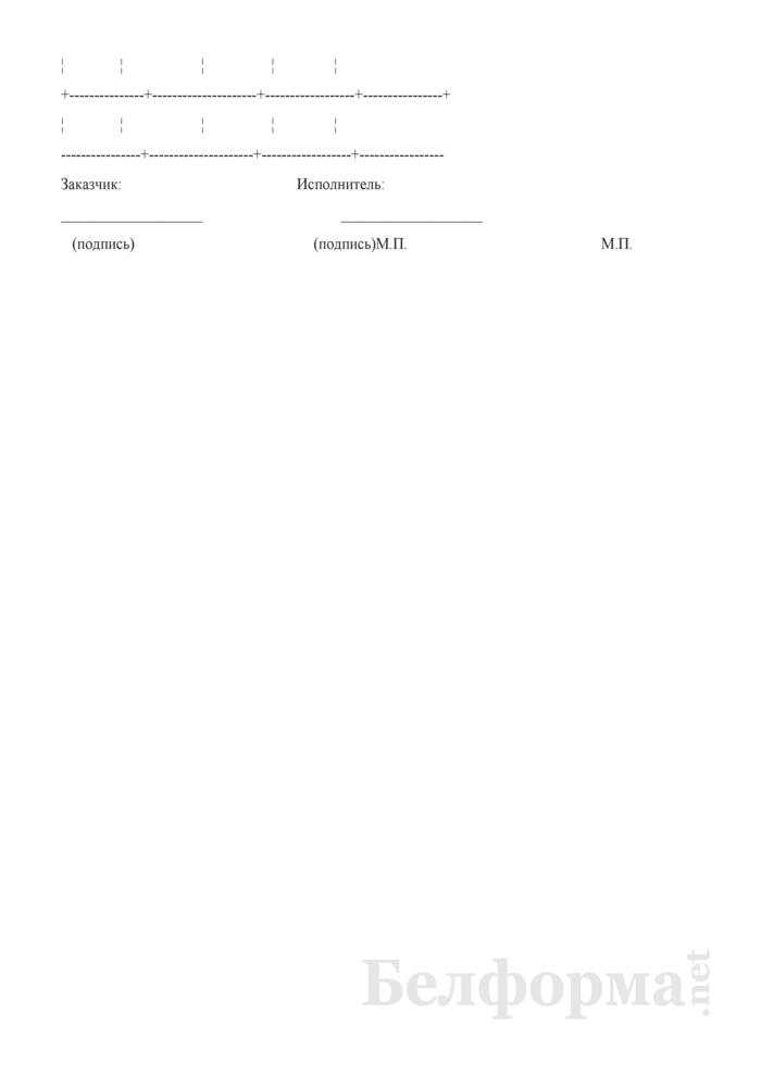 Отчет об использовании материалов, предоставленных заказчиком (к договору возмездного оказания услуг). Страница 2