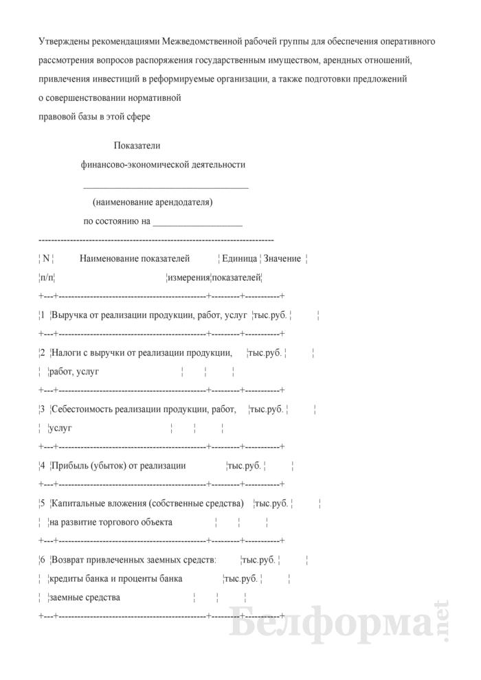 Показатели финансово-экономической деятельности. Страница 1