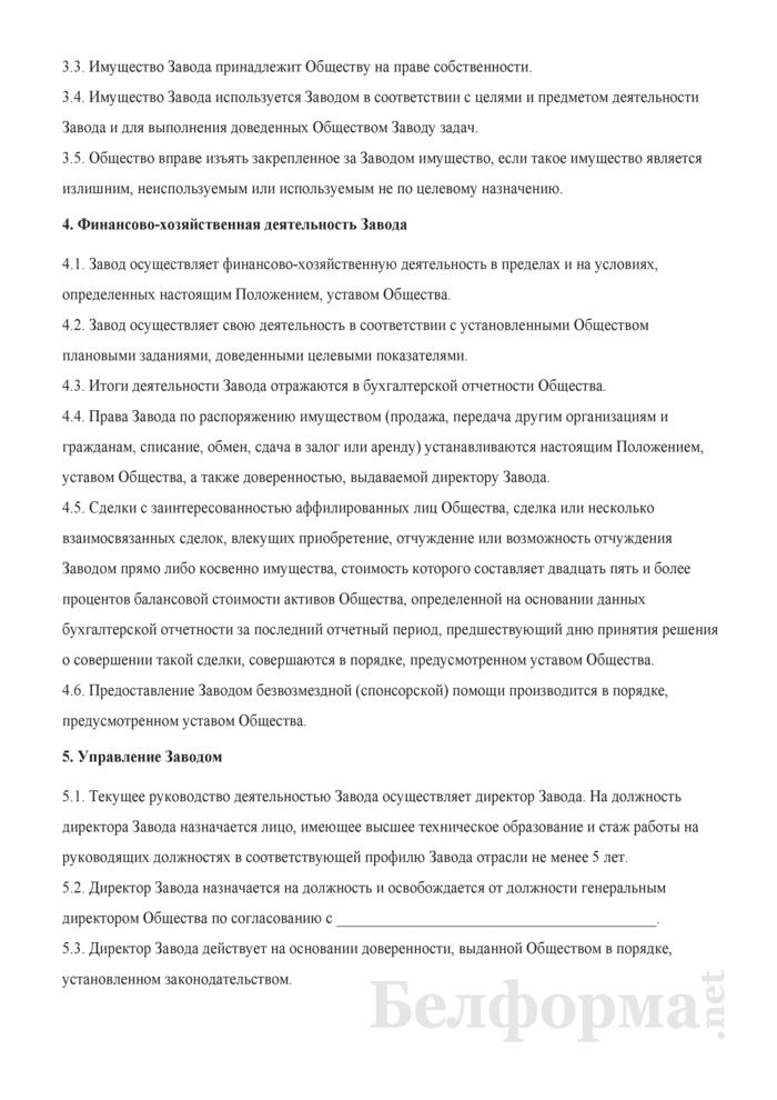 Положение об обособленном подразделении (филиале). Страница 3