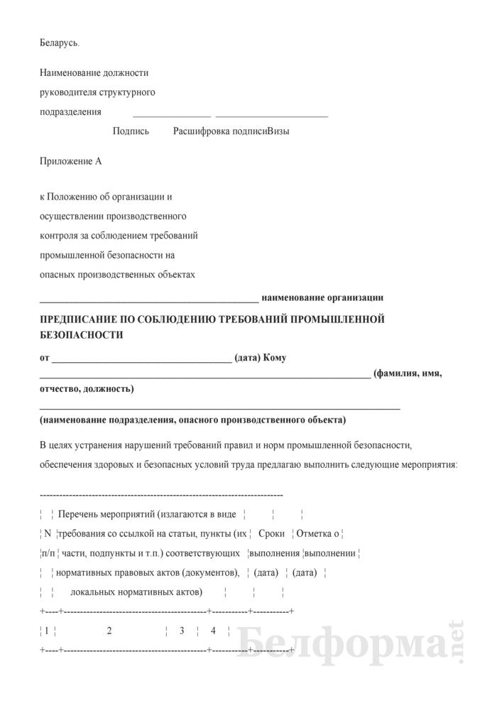 Положение об организации и осуществлении производственного контроля за соблюдением требований промышленной безопасности на опасных производственных объектах. Страница 23