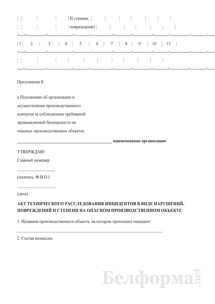 Положение об организации и осуществлении производственного контроля за соблюдением требований промышленной безопасности на опасных производственных объектах. Страница 31