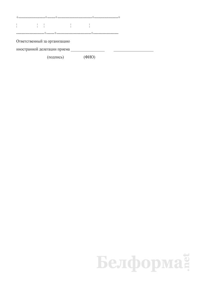 Программа переговоров с иностранной делегацией. Страница 3
