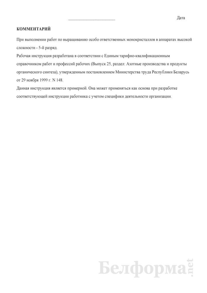 Рабочая инструкция аппаратчику производства корунда (4 - 5-й разряды). Страница 3