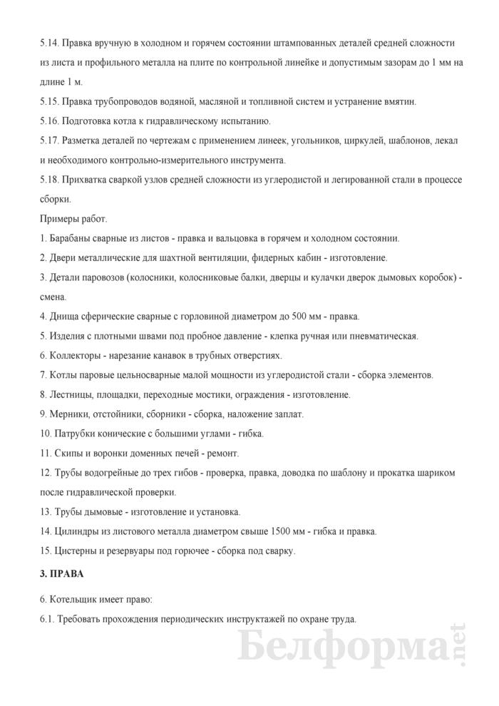 Рабочая инструкция котельщику (3-й разряд). Страница 3