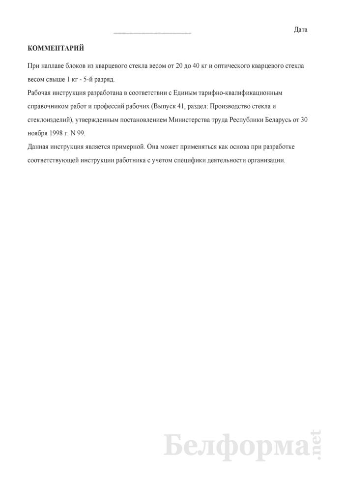 Рабочая инструкция кварцеплавильщику (4 - 5-й разряды). Страница 3