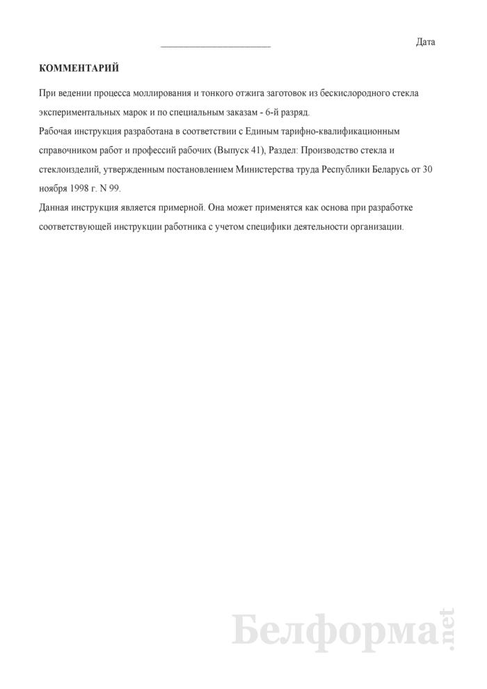 Рабочая инструкция моллировщику стекла (5 - 6-й разряды). Страница 3