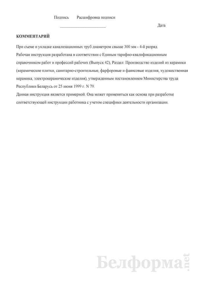 Рабочая инструкция съемщику-укладчику изделий (3 - 4-й разряды). Страница 3