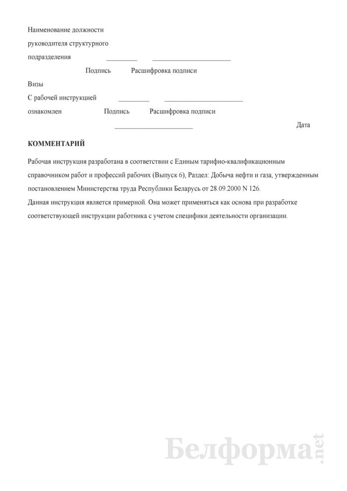 Рабочая инструкция слесарю по монтажу и ремонту оснований морских буровых и эстакад (4-й разряд). Страница 3
