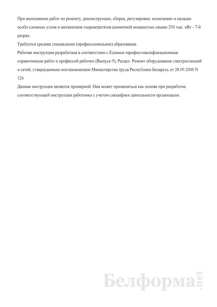 Рабочая инструкция слесарю по ремонту гидротурбинного оборудования (6 - 7-й разряды). Страница 4