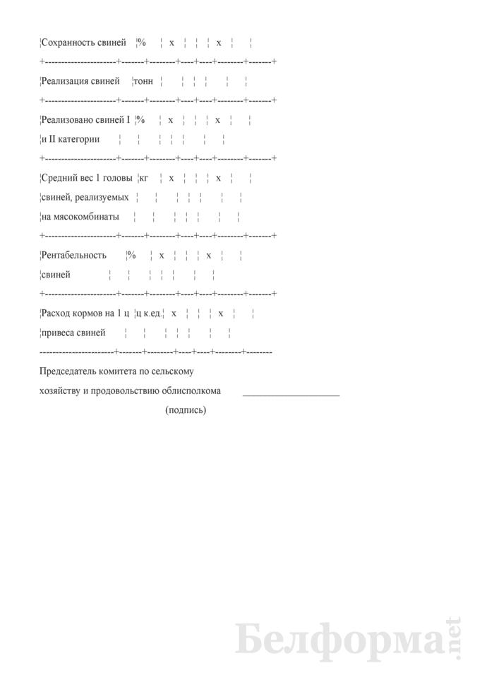 Справка на кандидата в победители республиканского соревнования в животноводстве в 2008 году среди сельскохозяйственных организаций, имеющих животноводческие комплексы по производству свинины. Страница 2