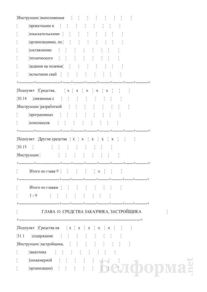 Сводный сметный расчет стоимости строительства (очереди строительства). Страница 9