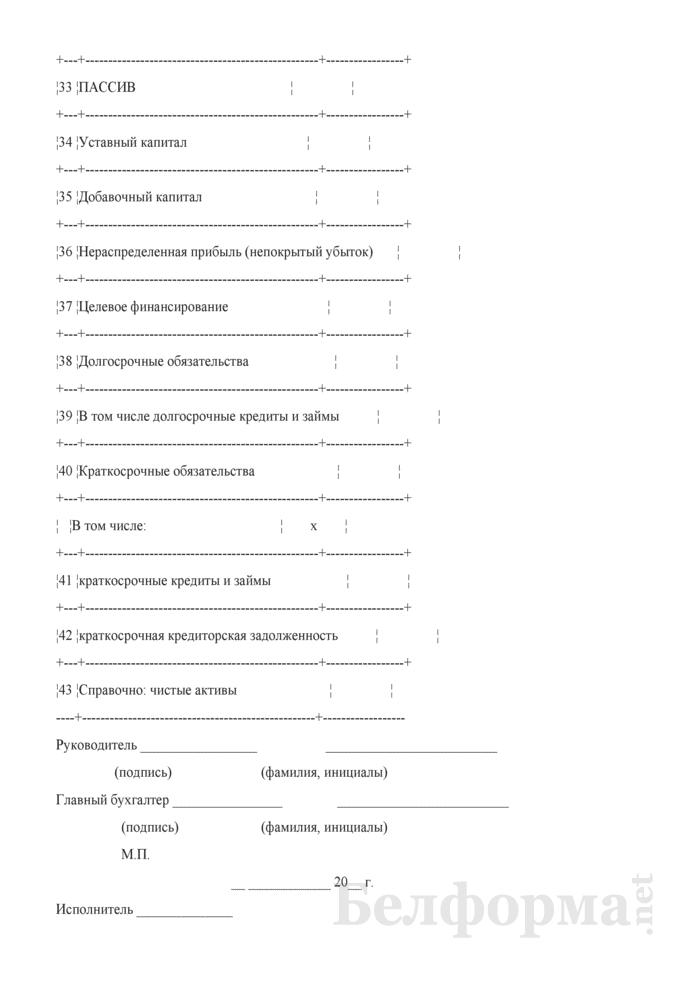 Сведения о балансовой стоимости государственного имущества, закрепленного за субъектом Единого реестра государственного имущества на праве хозяйственного ведения (Форма). Страница 4