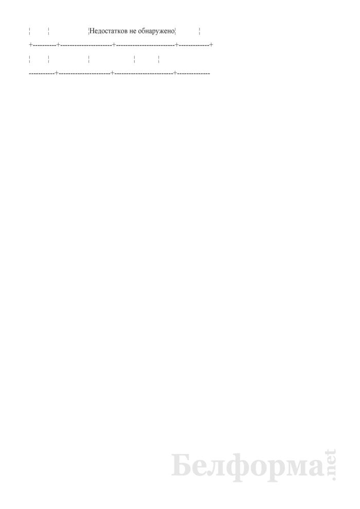 Запись в журнале проверок состояния воинского учета и бронирования военнообязанных о проведении сверки (Образец заполнения). Страница 2