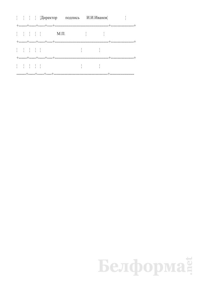 Запись в трудовой книжке о прекращении трудового договора при отказе работника от перевода на работу в другую местность вместе с нанимателем (Образец заполнения). Страница 2