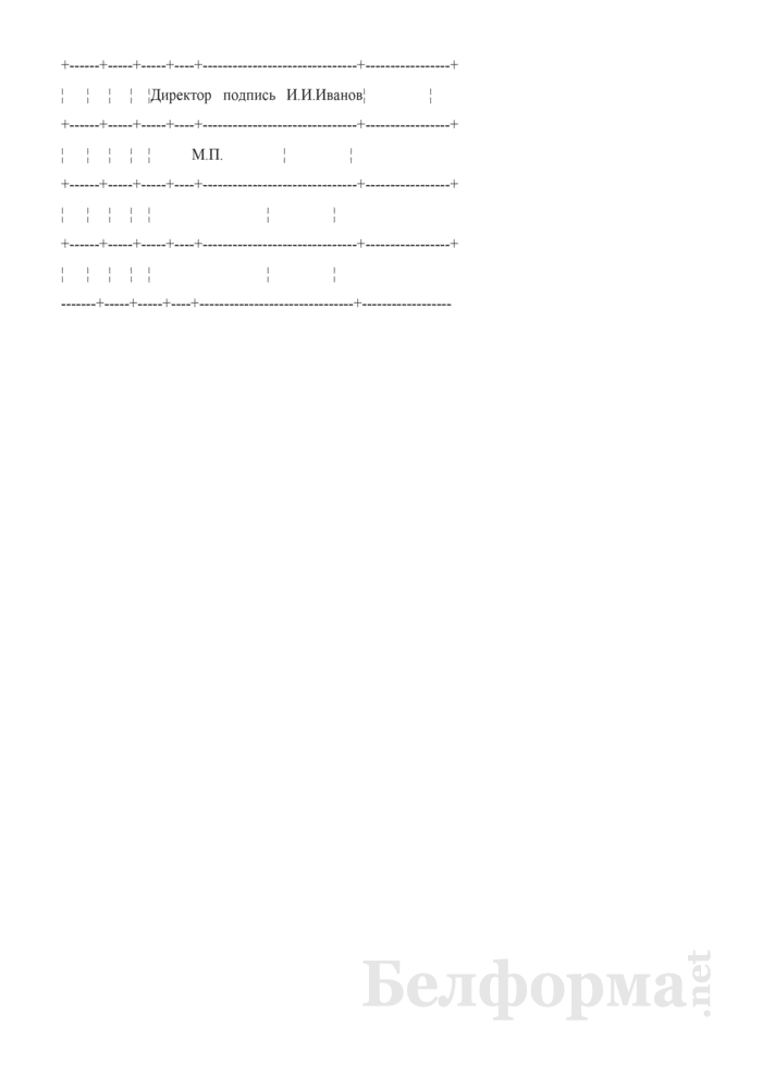Запись в трудовой книжке об увольнении за употребление токсических веществ в нерабочее время, но по месту работы (Образец заполнения). Страница 2