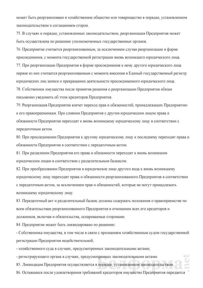 Устав Частного унитарного предприятия. Страница 12