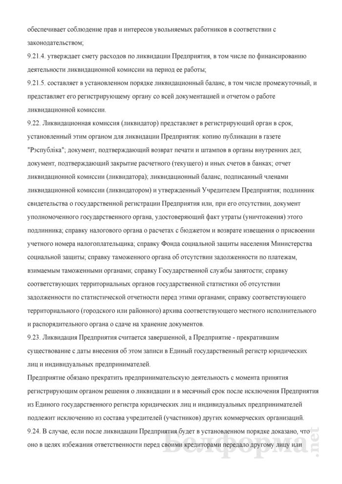 Устав иностранного частного унитарного торгово-производственного предприятия. Страница 12
