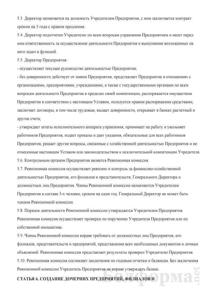 Устав иностранного частного унитарного торгово-производственного предприятия. Страница 5