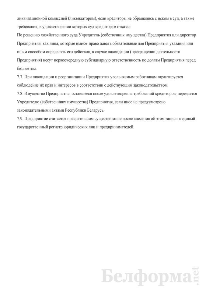 Устав производственно-коммерческого частного унитарного предприятия. Страница 8
