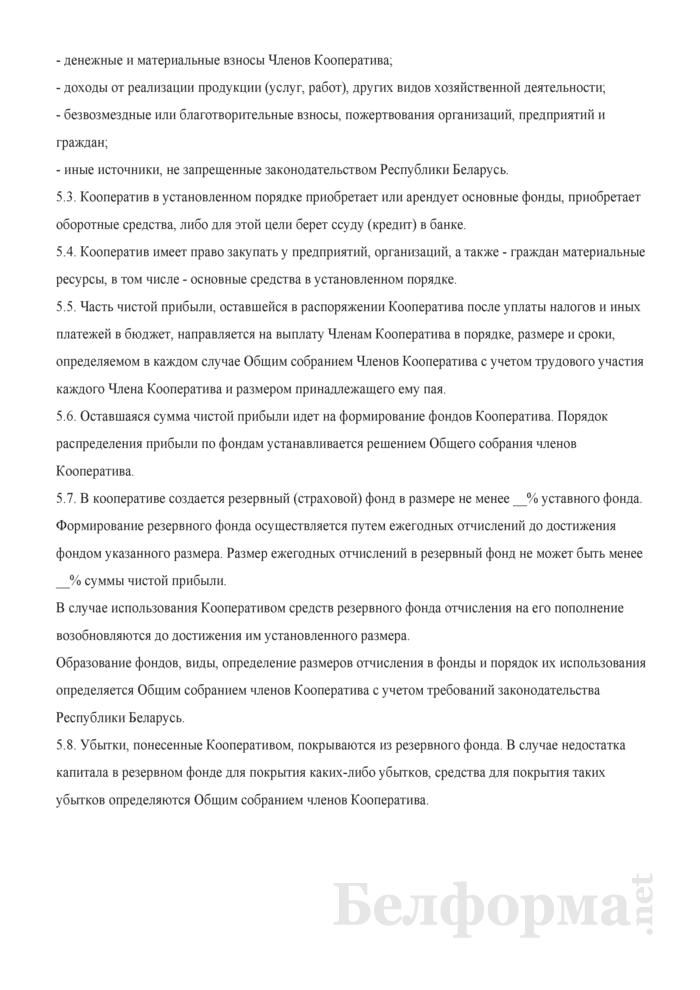 Устав торгово-производственного кооператива. Страница 9