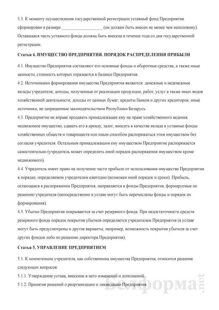 Устав унитарного торгового предприятия. Страница 3