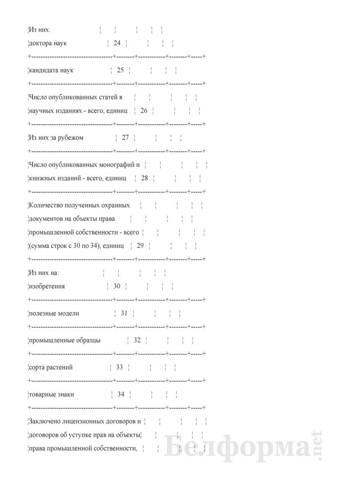 Сведения об основных показателях, характеризующих научную, научно-техническую и инновационную деятельность научной организации. Страница 4