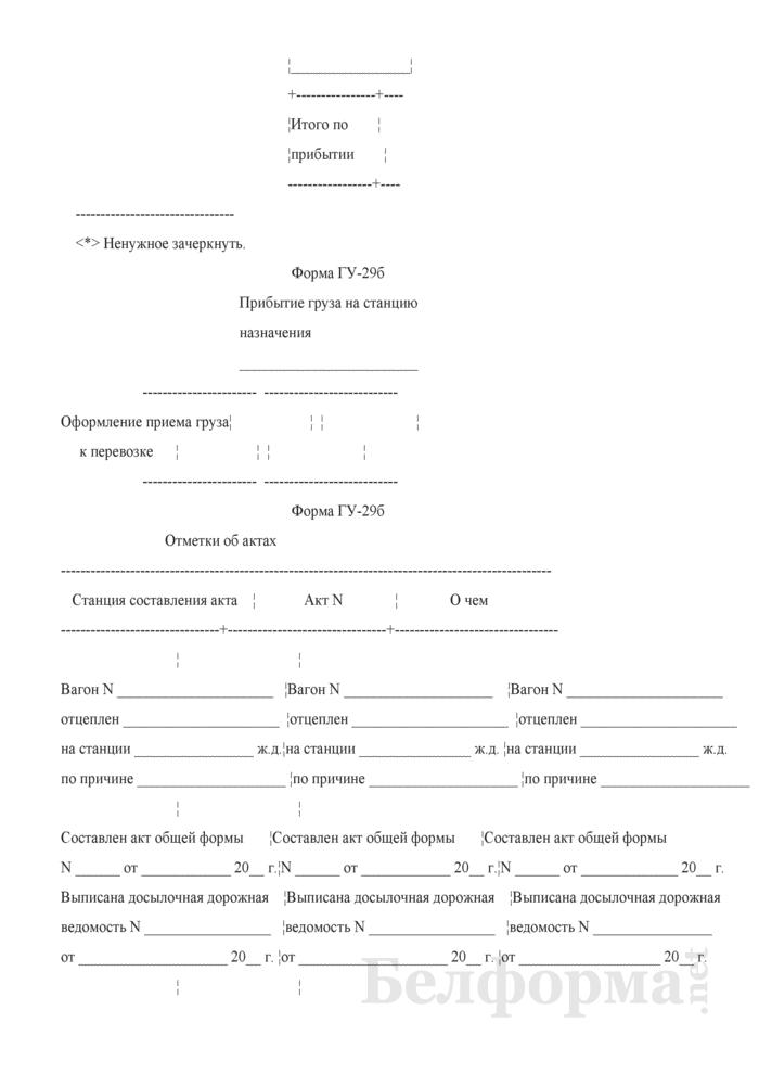 Дорожная ведомость на маршрут или группу вагонов. Форма № ГУ-29б. Страница 3