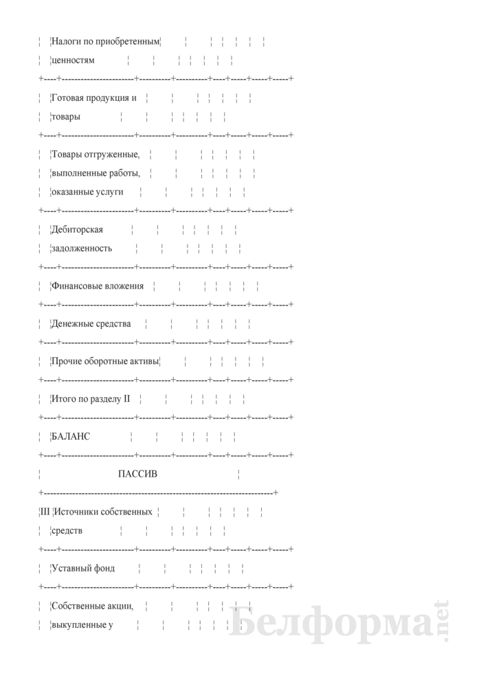 Проектно-балансовая ведомость по организации (для коммерческих организаций коммунальной собственности города Минска, негосударственных коммерческих организаций, акции (доли) которых принадлежат городу Минску). Страница 2
