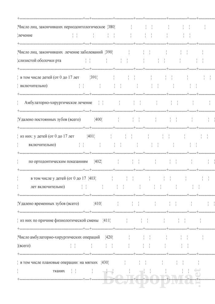 Сводная ведомость лечебно-профилактической работы. Форма № 039-СВ/у-10. Страница 9