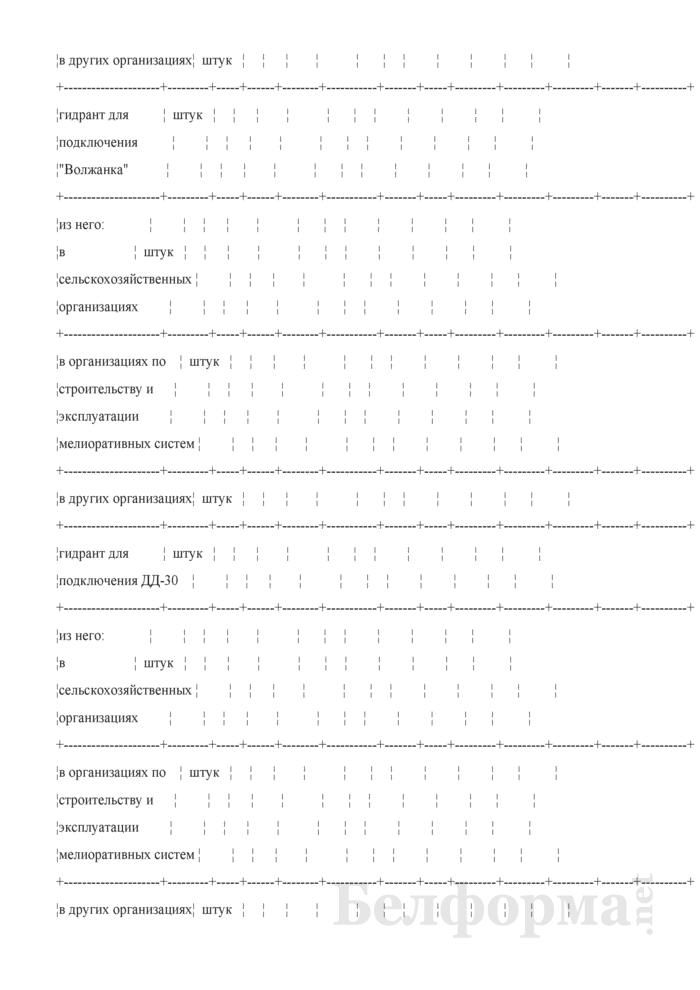 Ведомость технического состояния оросительных мелиоративных систем. Страница 11