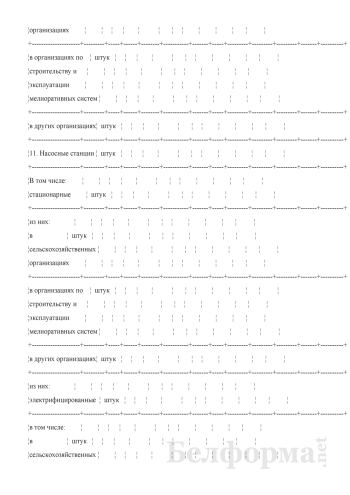 Ведомость технического состояния осушительно-оросительных мелиоративных систем. Страница 17