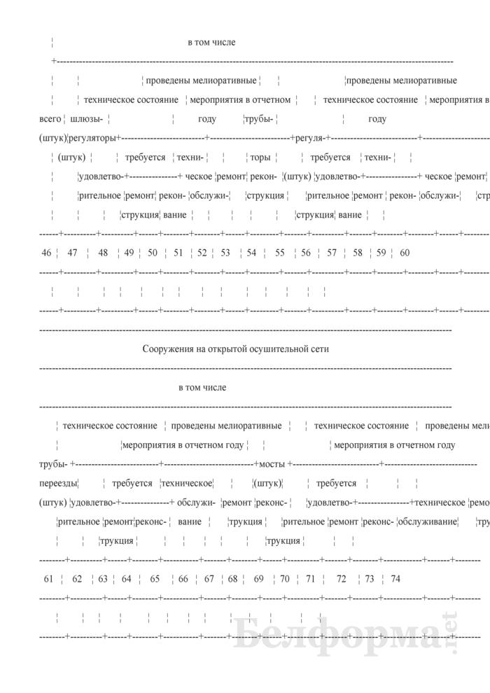 Ведомость внутрихозяйственных оросительных, осушительно-оросительных систем. Страница 3