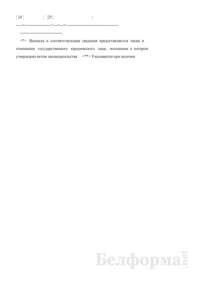 Выписка из Единого государственного регистра юридических лиц и индивидуальных предпринимателей о государственном органе. Страница 3