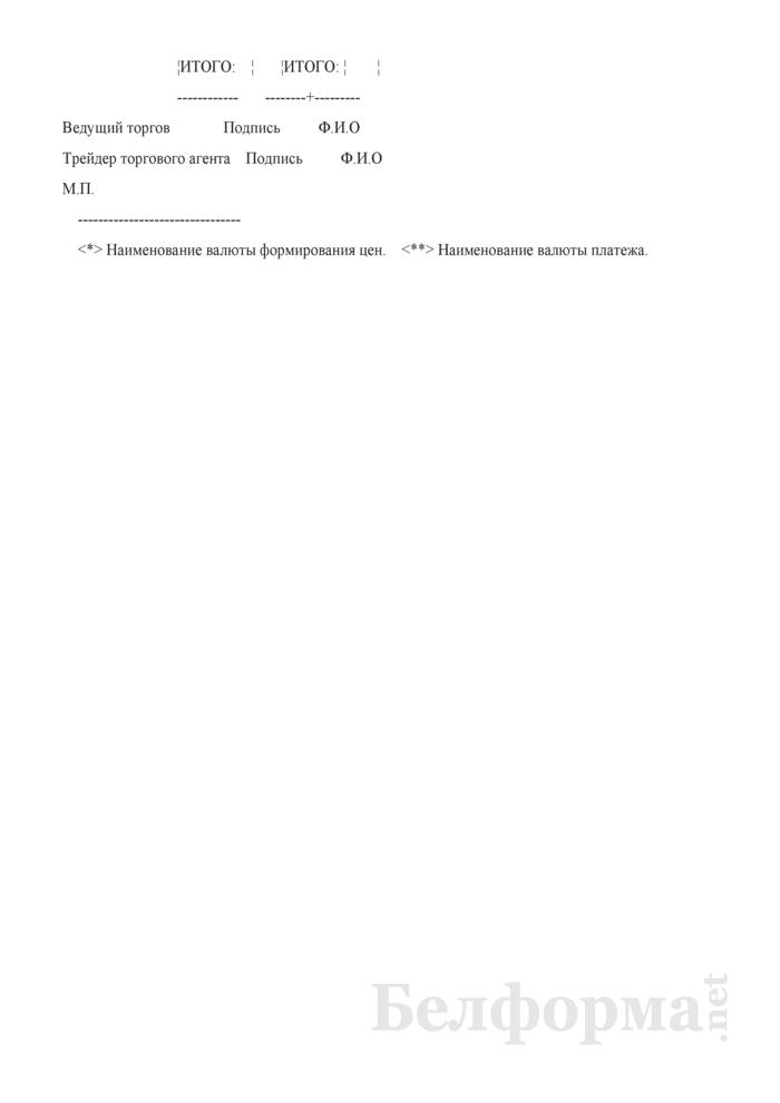 Выписка из единого учетного электронного реестра сделок, заключенных на аукционе по продаже принадлежащих государству акций ОАО. Страница 2