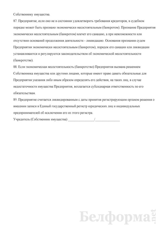 Устав Частного унитарного предприятия. Страница 13