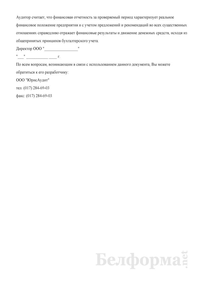 Аудиторское заключение. Страница 2