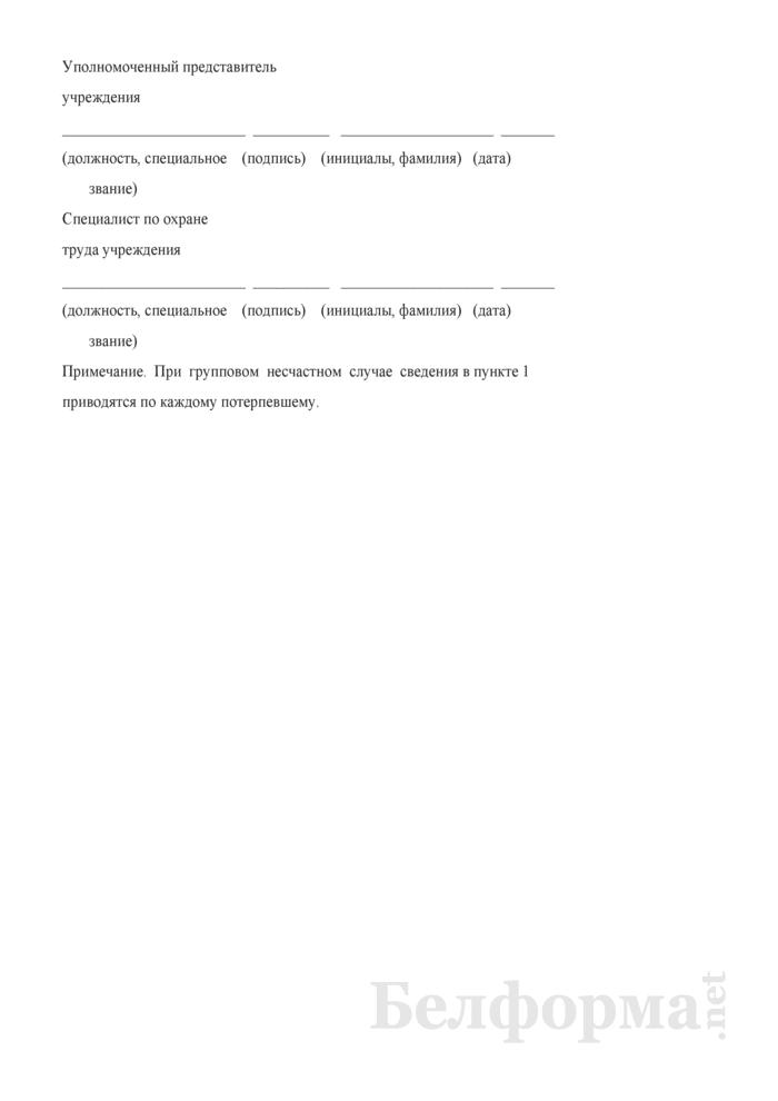 Заключение о несчастном случае (групповом, с тяжелым, смертельным исходом). Страница 3
