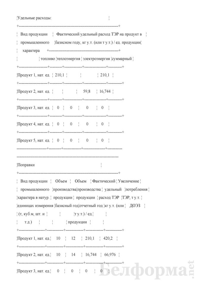 Пояснительная записка к отчету по форме 12-тэк (образец заполнения). Страница 2