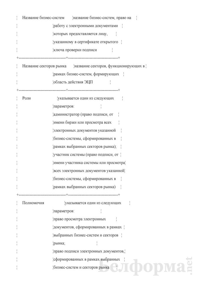 Заявление на возобновление действия сертификата открытого ключа проверки подписи. Страница 2
