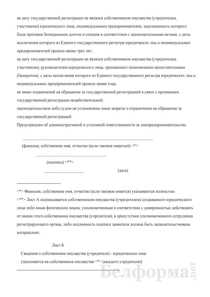 Заявление о государственной регистрации коммерческой организации. Страница 13